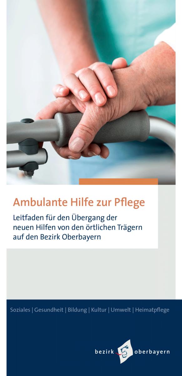 Ambulante Hilfe zur Pflege: Vorschau Flyer