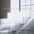 """Titelseite des Kunstkatalogs """"Transparenzen"""" von Sheila Furlan. Sie zeigt eine durchsichtige Treppe."""