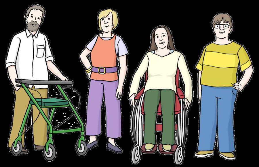 Behinderung bei jungen erwachsenen
