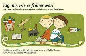 Zwei gezeichnete Kinder sitzen auf einem Zeitstrahl und lächeln.
